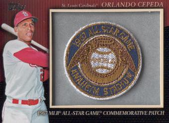 2010 Topps Commemorative Patch #MCP55 Orlando Cepeda