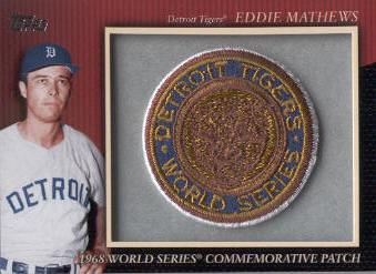 2010 Topps Commemorative Patch #MCP69 Eddie Mathews