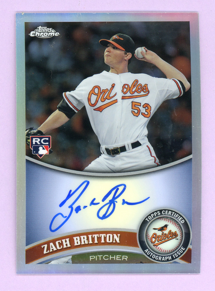 2011 Topps Chrome Rookie Autographs Refractors #216 Zach Britton