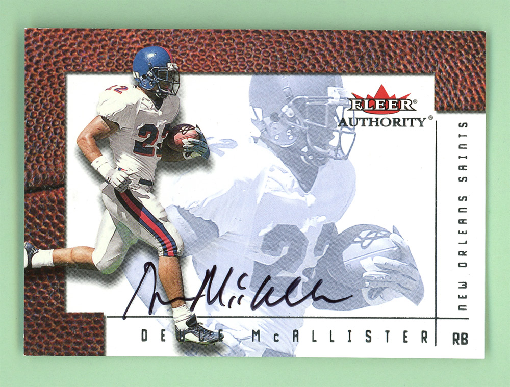 2001 Fleer Authority Autographs #15 Deuce McAllister front image