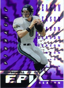1997 Pinnacle Epix Purple #E13 M.Brunell MOMENT
