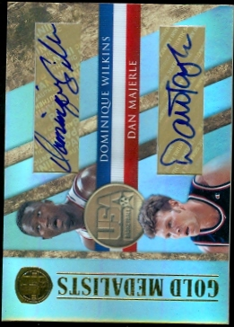 2010-11 Panini Gold Standard Gold Medalists Signatures Dual #13 Dominique Wilkins/35/Dan Majerle