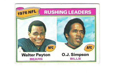 1977 Topps #3 W.Payton/Simpson LL