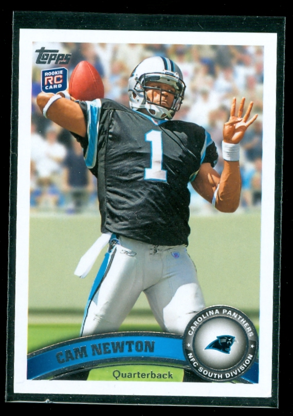 2011 Topps #200A Cam Newton RC/(stands in background/silver wall)