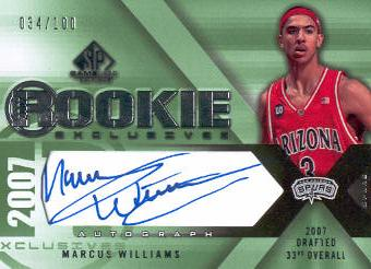 2007-08 SP Game Used Rookie Exclusives Autographs #REMW Marcus Williams