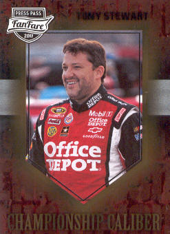 2011 Press Pass FanFare Championship Caliber #CC2 Tony Stewart