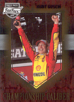 2011 Press Pass FanFare Championship Caliber #CC3 Kurt Busch