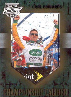 2011 Press Pass FanFare Championship Caliber #CC25 Carl Edwards front image