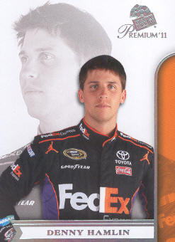 2011 Press Pass Premium #15 Denny Hamlin