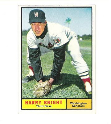 1961 Topps #447 Harry Bright