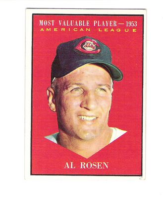 1961 Topps #474 Al Rosen MVP