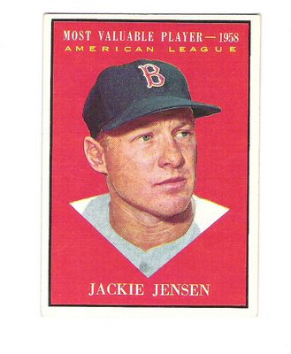 1961 Topps #476 Jackie Jensen MVP