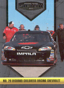 2011 Press Pass Stealth #17 Kevin Harvick's Car front image