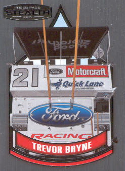 2011 Press Pass Stealth #71 Trevor Bayne's Pit Box CC