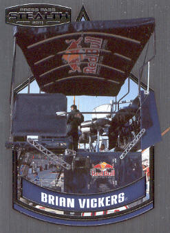 2011 Press Pass Stealth #72 Brian Vickers' Pit Box CC