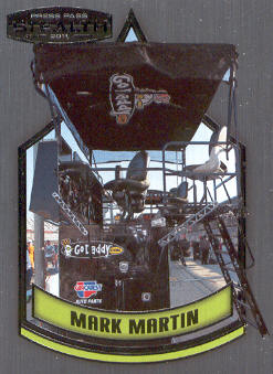 2011 Press Pass Stealth #73 Mark Martin's Pit Box CC