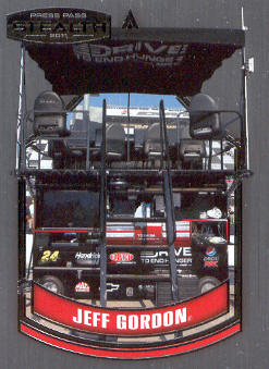 2011 Press Pass Stealth #76 Jeff Gordon's Pit Box CC