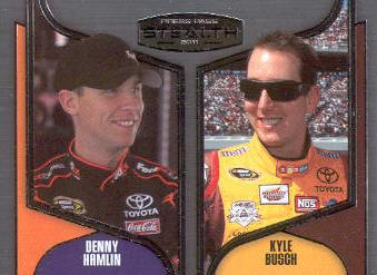 2011 Press Pass Stealth #88 Denny Hamlin/Kyle Busch