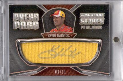 2011 Press Pass Signature Series #SSBKH Kevin Harvick/Pit Wall Banner front image