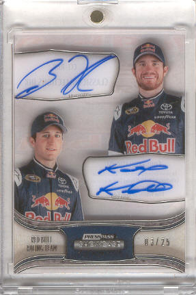 2011 Press Pass Showcase Classic Collections Ink #CCMRBR Brian Vickers/Kasey Kahne/Red Bull Racing Team