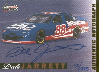 1996 Autographed Racing Autographs Certified Golds #22 Dale Jarrett