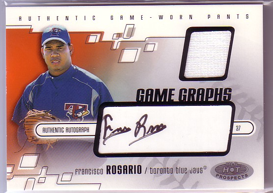 2003 Hot Prospects #113 Franc Rosario Pants AU RC