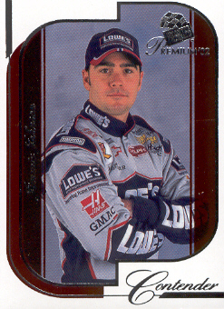 2002 Press Pass Premium Red Reflectors #13 Jimmie Johnson