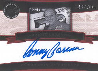 2005 Press Pass Legends Autographs Blue #7 Benny Parsons/700