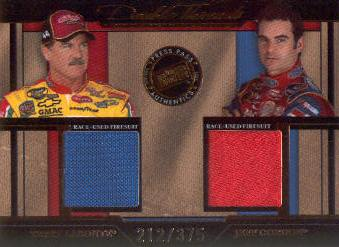 2005 Press Pass Legends Double Threads Bronze #DTLG Terry Labonte/Jeff Gordon