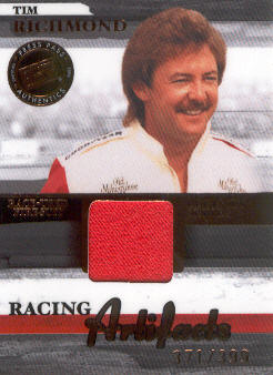 2006 Press Pass Legends Racing Artifacts Firesuit Bronze #TRF Tim Richmond front image
