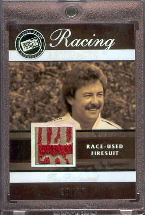 2007 Press Pass Legends Racing Artifacts Firesuit Patch #TRF Tim Richmond