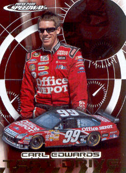 2008 Press Pass Speedway Test Drive #TD10 Carl Edwards