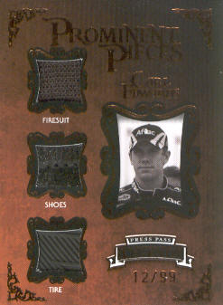 2009 Press Pass Legends Prominent Pieces Bronze #PPCE Carl Edwards