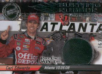 2009 Press Pass Burning Rubber Drivers #BRD33 Carl Edwards