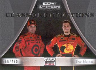 2009 Press Pass Showcase #28 Juan Pablo Montoya/Martin Truex Jr. CC