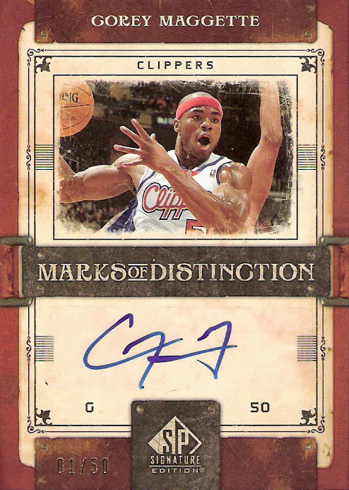2006-07 SP Signature Edition Marks of Distinction #CM Corey Maggette