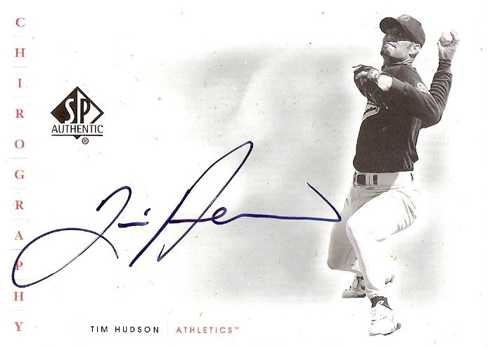 2001 SP Authentic Chirography #TIH Tim Hudson