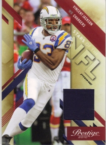 2010 Prestige Stars of the NFL Materials Prime #12 Vincent Jackson/40