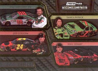 2010 Press Pass Showcase Gold #30 Dale Earnhardt Jr./Jeff Gordon/Danica Patrick/Tony Stewart CC