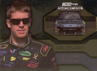 2010 Press Pass Showcase Gold #42 Carl Edwards EE
