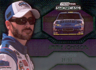 2010 Press Pass Showcase Green #39 Jimmie Johnson EE