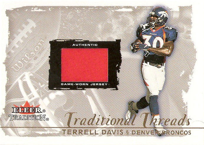 2000 Fleer Tradition Glossy Traditional Threads #11 Terrell Davis/100
