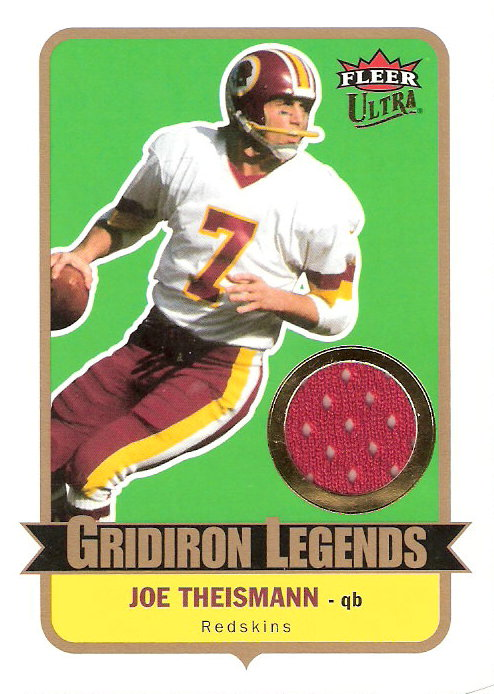 2007 Ultra Gridiron Legends Jerseys #JT Joe Theismann
