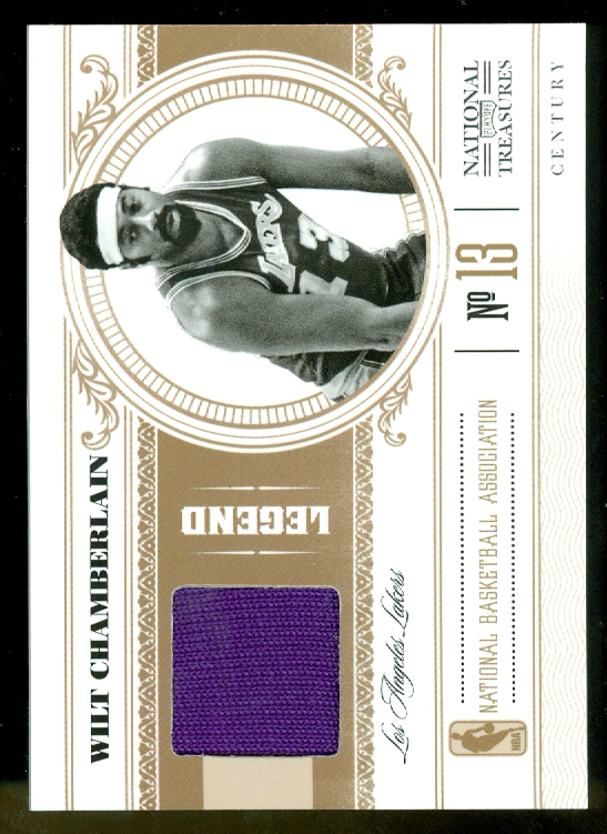 2010-11 Playoff National Treasures Century Materials #106 Wilt Chamberlain/25