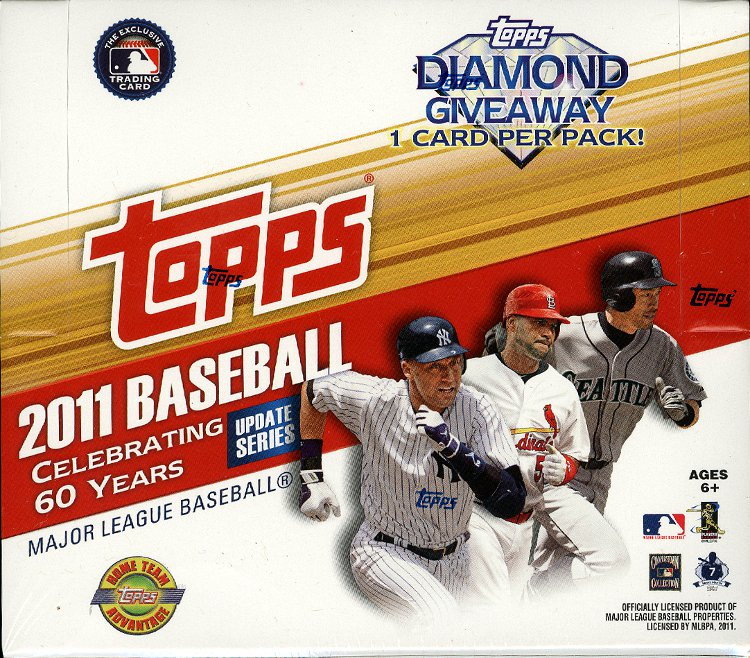 2011 Topps Update Series Baseball Jumbo Factory Sealed Hobby Box - Includes a pk of sleeves