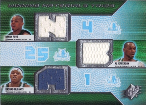 2008-09 SPx Winning Materials Trios #WMTJMF Randy Foye/Al Jefferson/Rashad McCants
