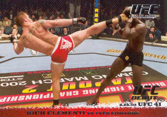 2009 Topps UFC Round 1 #13 Rich Clementi/Yves Edwards