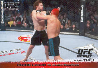2009 Topps UFC Round 1 #20 Chris Leben/Jason Thacker