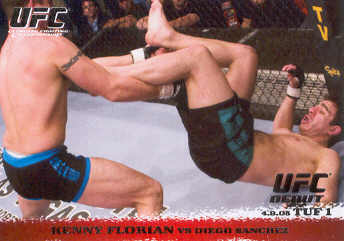 2009 Topps UFC Round 1 #26 Kenny Florian/Diego Sanchez