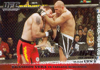 2009 Topps UFC Round 1 #34 Brandon Vera/Fabiano Scherner